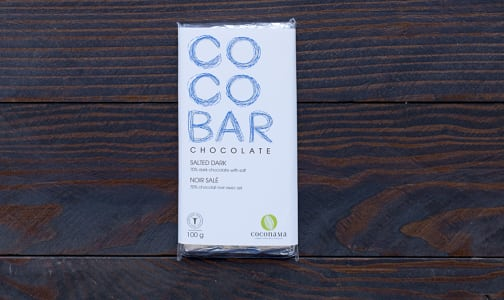COCONAMA Salted Dark Chocolate Bar - 70%- Code#: DE992