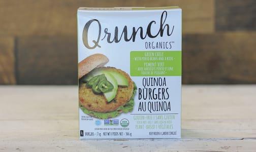 Organic Quinoa Burgers Green Chile- Code#: DN0052