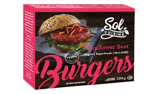 Sunflower Beet Burgers (Frozen)- Code#: DN0071