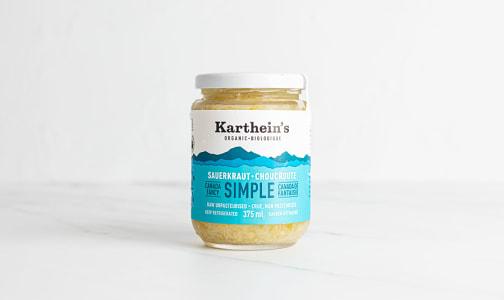 Organic Unpasteurized Sauerkraut - Simple- Code#: DN0483