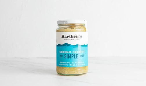 Organic Unpasteurized Sauerkraut - Simple- Code#: DN0485