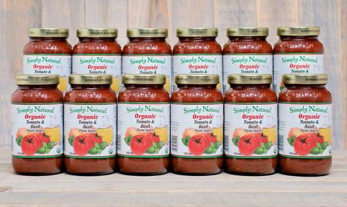Organic Tomato & Basil Pasta Sauce - CASE- Code#: DN231-CS