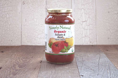 Organic Tomato & Basil Pasta Sauce- Code#: DN231