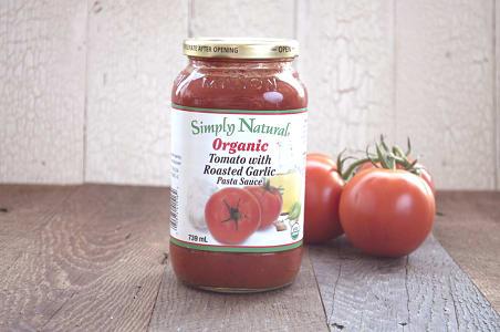 Organic Tomato w/ Roasted Garlic Pasta Sauce- Code#: DN237