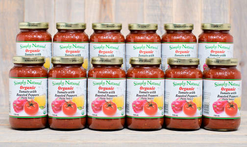 Organic Tomato w/roasted peppers Pasta Sauce - CASE- Code#: DN239-CS