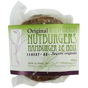 Original Wild Onion Nutburgers (Frozen)- Code#: DN3007