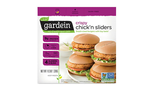 Crispy Chick'n Sliders (Frozen)- Code#: DN3046