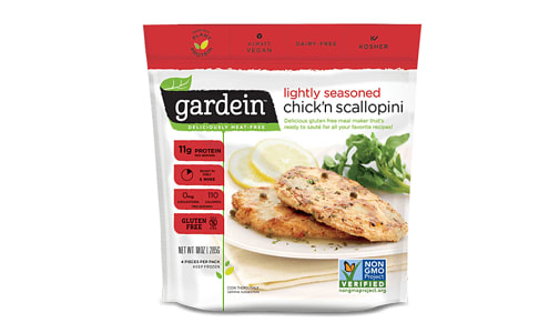 Lightly Seasoned Chick'n Scallopini (Frozen)- Code#: DN3047