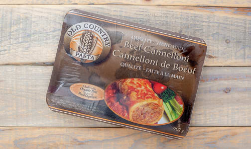 Beef Cannelloni (made with Certified Organic Beef) (Frozen)- Code#: DN3605
