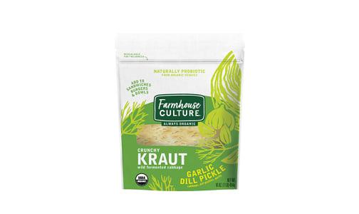 Organic Garlic Dill Pickle Kraut- Code#: DN3701