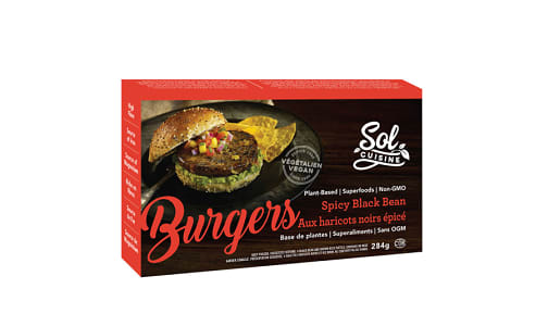Spicy Black Bean Burger (Frozen)- Code#: DN539