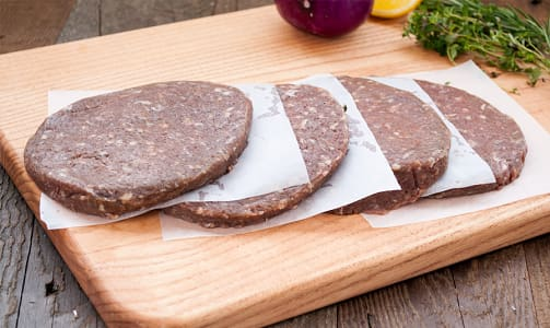 Organic Grass Fed Beef Burgers (Frozen)- Code#: MP0280