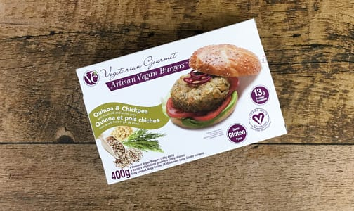 Burger Quinoa & Chickpea (Frozen)- Code#: DN753
