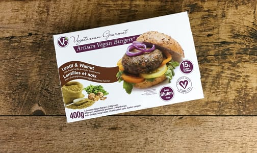 Burger Lentil & Walnut (Frozen)- Code#: DN755