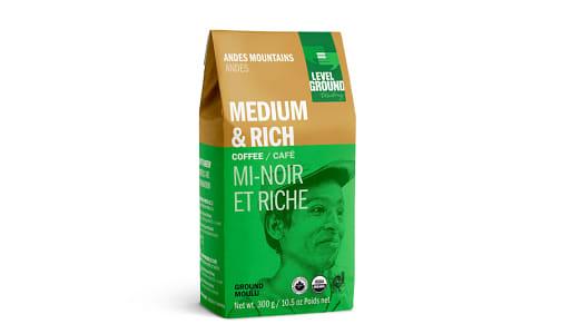 Organic Bolivian Ground Medium Roast Coffee- Code#: DR0065