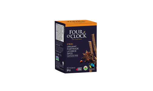 Organic Chai Licorice Spice Tea- Code#: DR0319