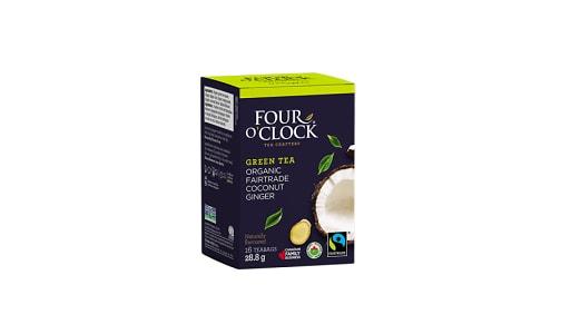 Organic Coconut Ginger Green Tea- Code#: DR0337