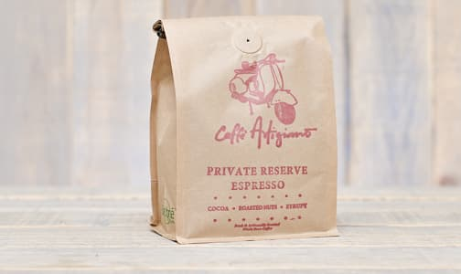Café Artigiano -Private Reserve Espresso -Whole Bean- Code#: DR0631