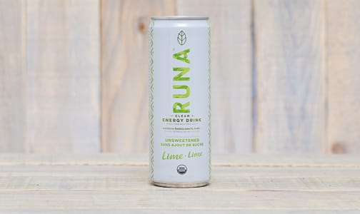 Organic Unsweetened Lime Clean Energy Drink- Code#: DR0687