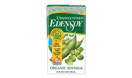 Organic Unsweetened Edensoy- Code#: DR1005