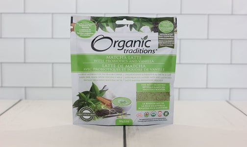 Organic Matcha Latte with Probiotics- Code#: DR1036