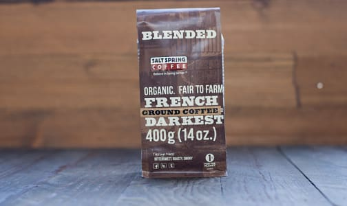 Organic French Roast Dark Coffee, Ground- Code#: DR115