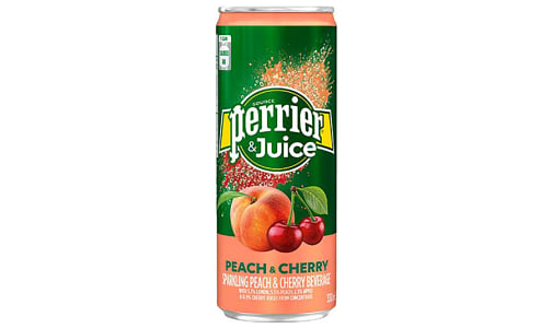 Peach & Cherry Sparkling Juice- Code#: DR1207