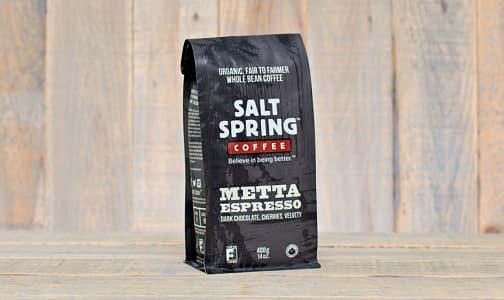 Organic Metta Espresso Dark Coffee, WHOLE BEAN- Code#: DR126