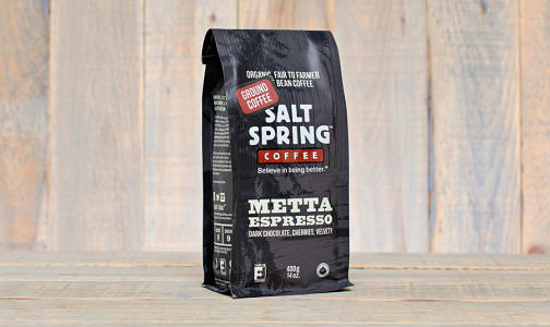 Organic Metta Espresso Dark Coffee, Ground- Code#: DR127