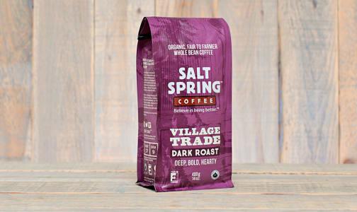 Organic Village Trade Medium Dark Roast Coffee, WHOLE BEAN- Code#: DR130