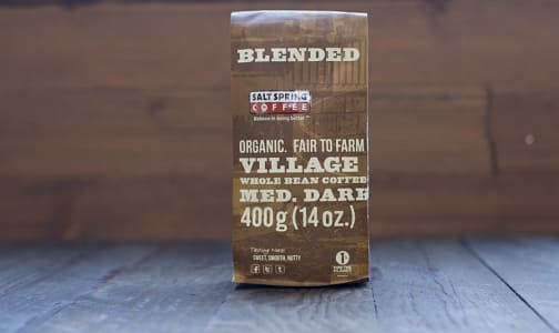 Organic Village Trade Dark Coffee, Whole Bean- Code#: DR130