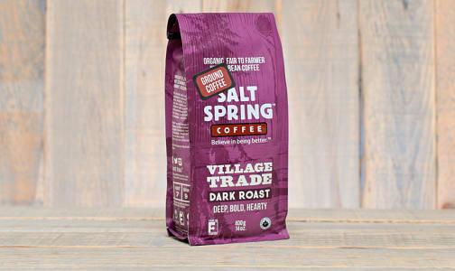 Organic Village Trade Medium Dark Roast Coffee, GROUND- Code#: DR135
