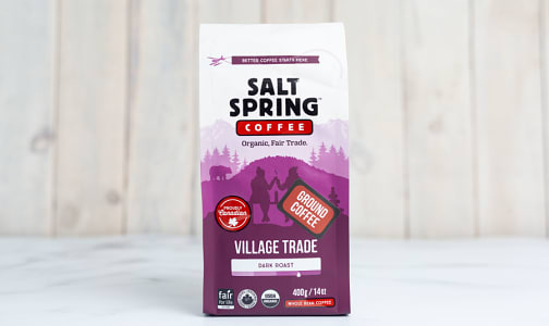 Organic Village Trade Medium Dark Roast Coffee, GROUND- Code#: DR135