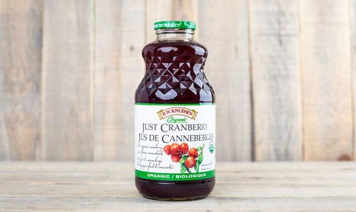 Organic Just Cranberry Juice- Code#: DR1370