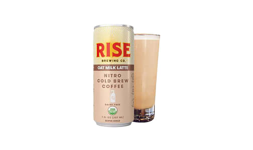 Organic Nitro Cold Brew Coffee - Oat Milk Latte- Code#: DR1409