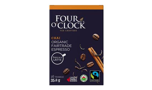Organic Chai Latte Espresso Tea Bags- Code#: DR1636