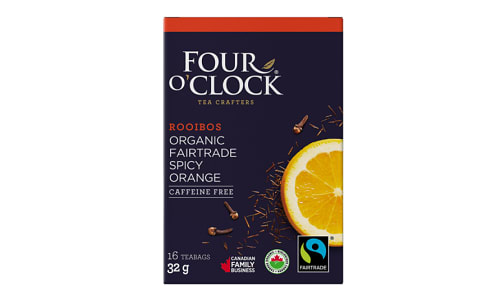 Organic Rooibos Orange Spice Tea Bags- Code#: DR1639