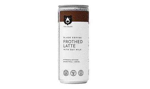 Frothed Black Oat Milk Latte- Code#: DR1739