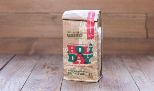 Organic Holiday Blend Medium-Dark Coffee, Whole Bean- Code#: DR191