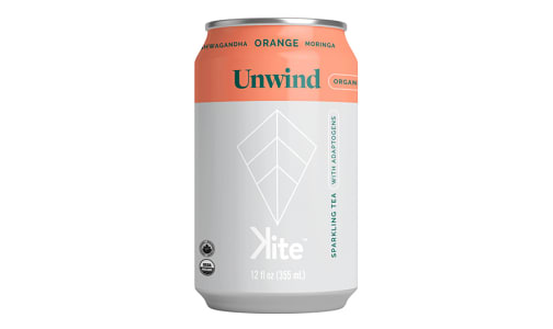 Organic Unwind - Ashwagandha Orange Sparkling Adaptogenic Tea- Code#: DR1925