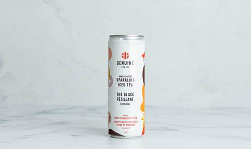 Organic Peach Turmeric Ceylon Sparkling Iced Tea- Code#: DR2392