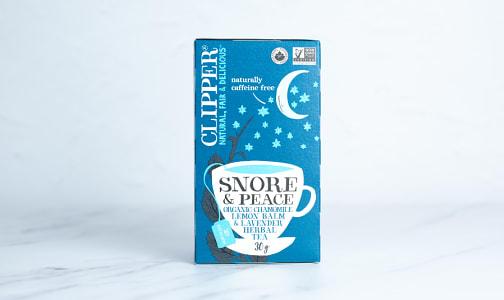 Organic Snore & Peace: Chamomile, Lemon Balm & Lavender Herbal Tea- Code#: DR2497
