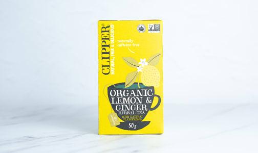Organic Lemon & Ginger Herbal Tea- Code#: DR2499