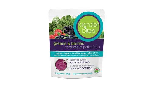 Organic Blender Bites - Superfood Pucks Greens & Berries (Frozen)- Code#: DR2507