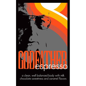 Organic Godfather Espresso Coffee, Whole Bean- Code#: DR3002