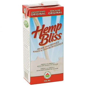 Organic Hemp Bliss Original Unsweetened- Code#: DR3037