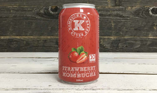 Organic Strawberry Hibiscus Ginger Kombucha- Code#: DR3148