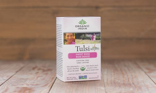 Organic Tulsi Sweet Rose Tea- Code#: DR840