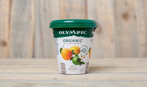 Organic Grass Fed Citrus Cardamom Yogurt  6.5% MF- Code#: DY0119