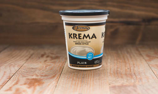 Krema Greek Style Plain Yogurt - 11% MF- Code#: DY064
